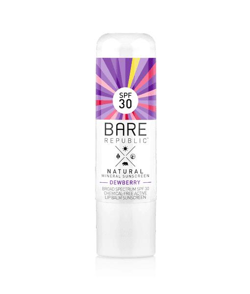 Image of   Bare Republic Spf 30 Mineral Lip Balm - Dewberry