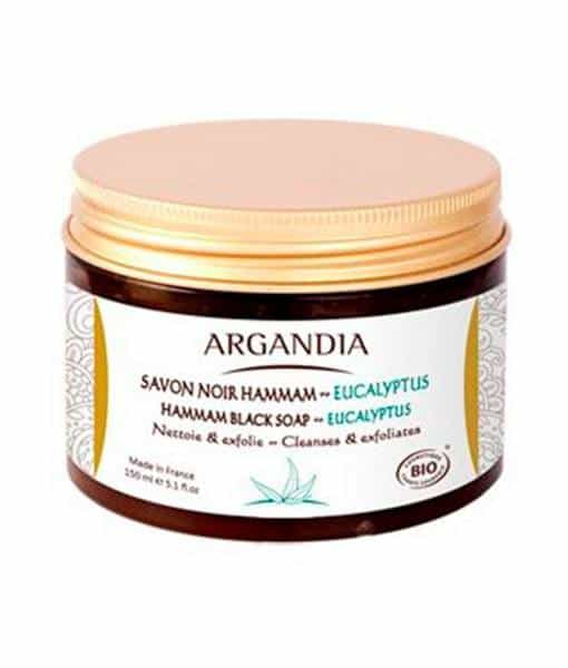 Image of   ARGANDIA Sort Hammam sæbe - Eucalyptus 150 ml