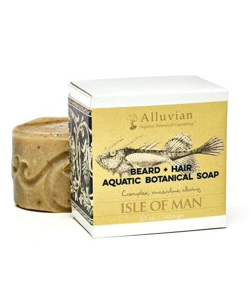 Image of   Alluvian Beard +Hair Aquatic Botanical Soap 147g