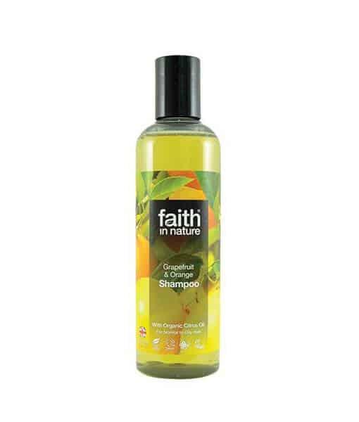 Faith in nature Shampoo grape & orange Normalt/fedtet hår 250 ml