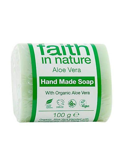 Image of   Faith in Nature øko Fast sæbe Aloe Vera sæbebar 100 g