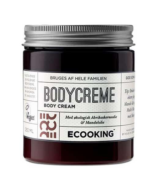 Ecooking Bodycreme m. abrikoskerneolie og mandelolie 250 ml