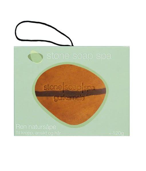 Stone soap spa Ren natur Sæbe Gurkemeje stribe m. snor 120g Duft af Appelsin
