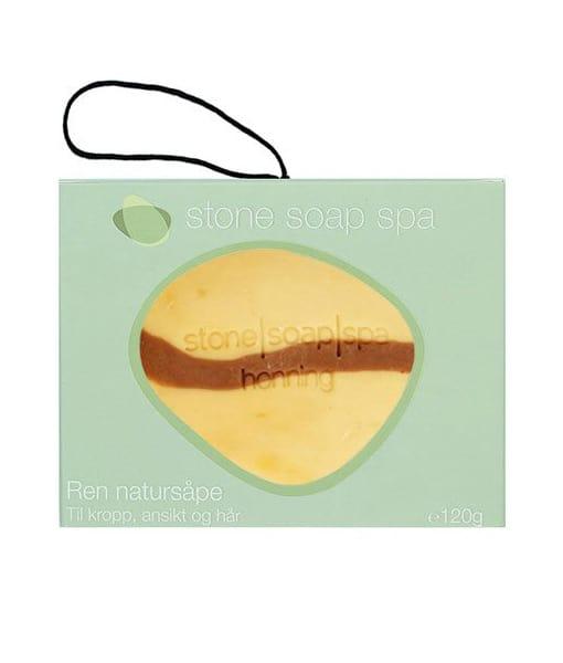 Stone soap spa Ren natur Sæbe honning stribe m. snor 120g Duft af Ylang Ylang