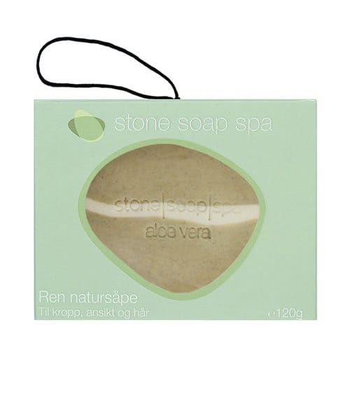 Stone soap spa Ren natur Sæbe aloe vera stribe m. snor 120g Duft af May-Chang