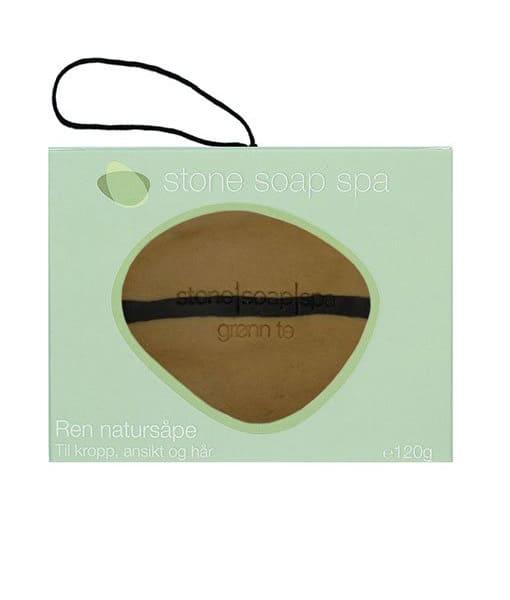 Stone soap spaRen natur Sæbe Grøn te stribe m. snor 120g Duft af Grapefrugt