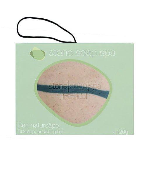 Stone soap spa Ren natur Sæbe Lavendel stribe m. snor 120g Duft af Lavendel