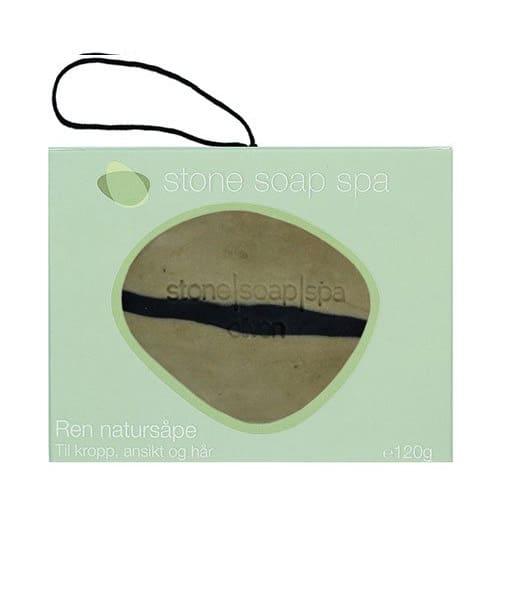 Stone soap spa Ren natur Sæbe oliven stribe m. snor 120g Duft af Thai Basilikum