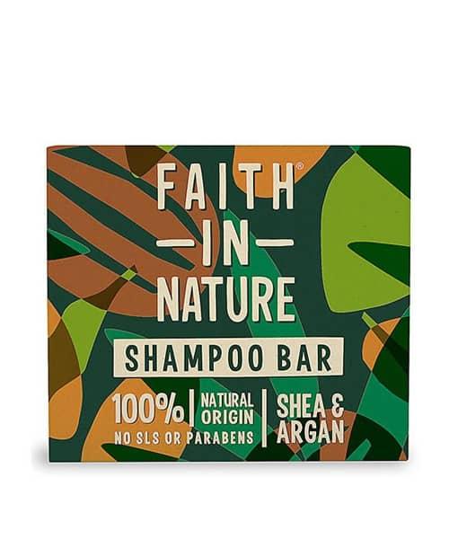 Billede af Faith In Nature Shampoo Bar Sheasmør & Arganolie 85g